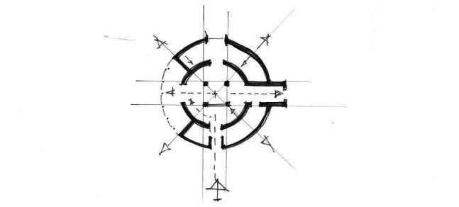 croquis circulations moulin